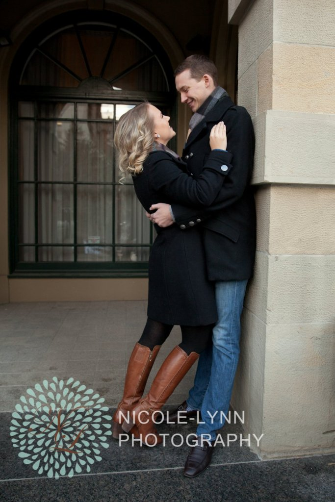 Calgary Engagement Photography at Parc Cafe